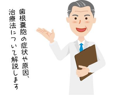 歯根嚢胞の症状や原因、治療法などを詳しくご紹介します。